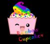Rainbow cuppycake :D