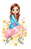 Candy Bar Doll w/ flowers