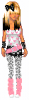 Pink, White, and Black Doll