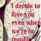 love even in trouble