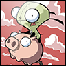 gir on flying pig