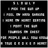 a true broken heart